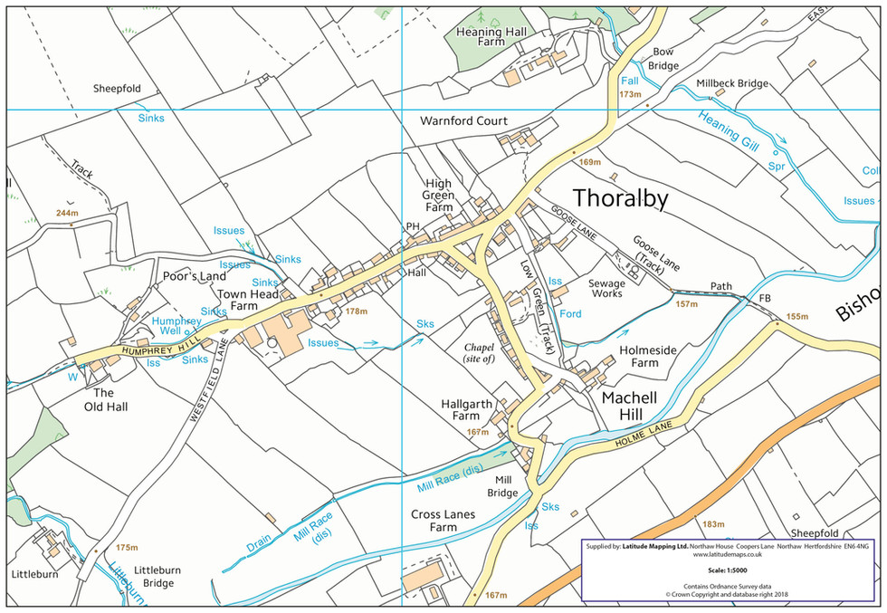 Thoralby - Village Map, 2018