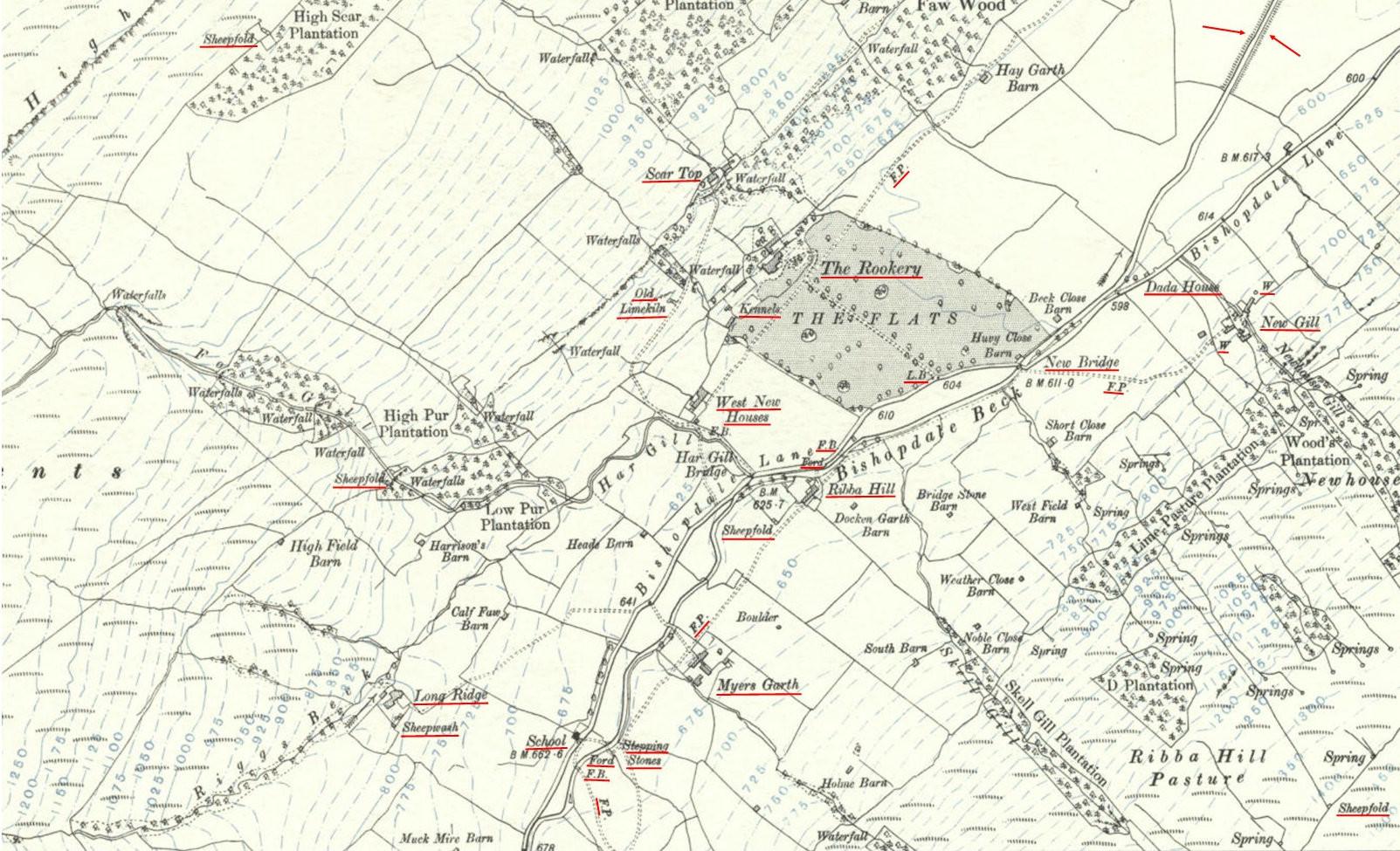New Gill - Long Ridge OS 1914