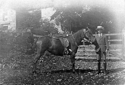 Rankin Waddell at Kidstones, Bishopdale 1918-19, aged fourteen, courtesy of DCM, Hawes.