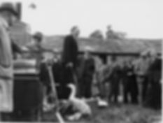 Thoralby Village Green: Thursday 15 Oct.,1953,  sale of donated goods