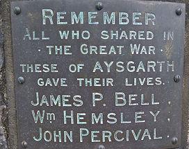 Names: Aysgarth War Memorial