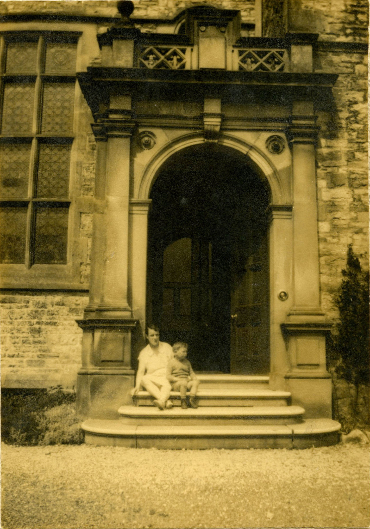 The large porch and front doors of the Rookery, courtesy of Rowly & Margaret Fawcett.