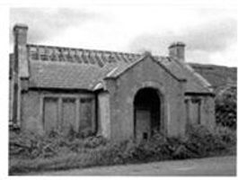 Bishopdale School, showing the dilapidatedstate of the building when lead removed from the roof, DCM, Hawes.