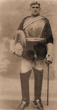 Trooper, Arthur Mawer in ceremonial uniform, Walden