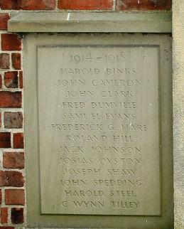 Snape Institute WW1 Memorial Detail