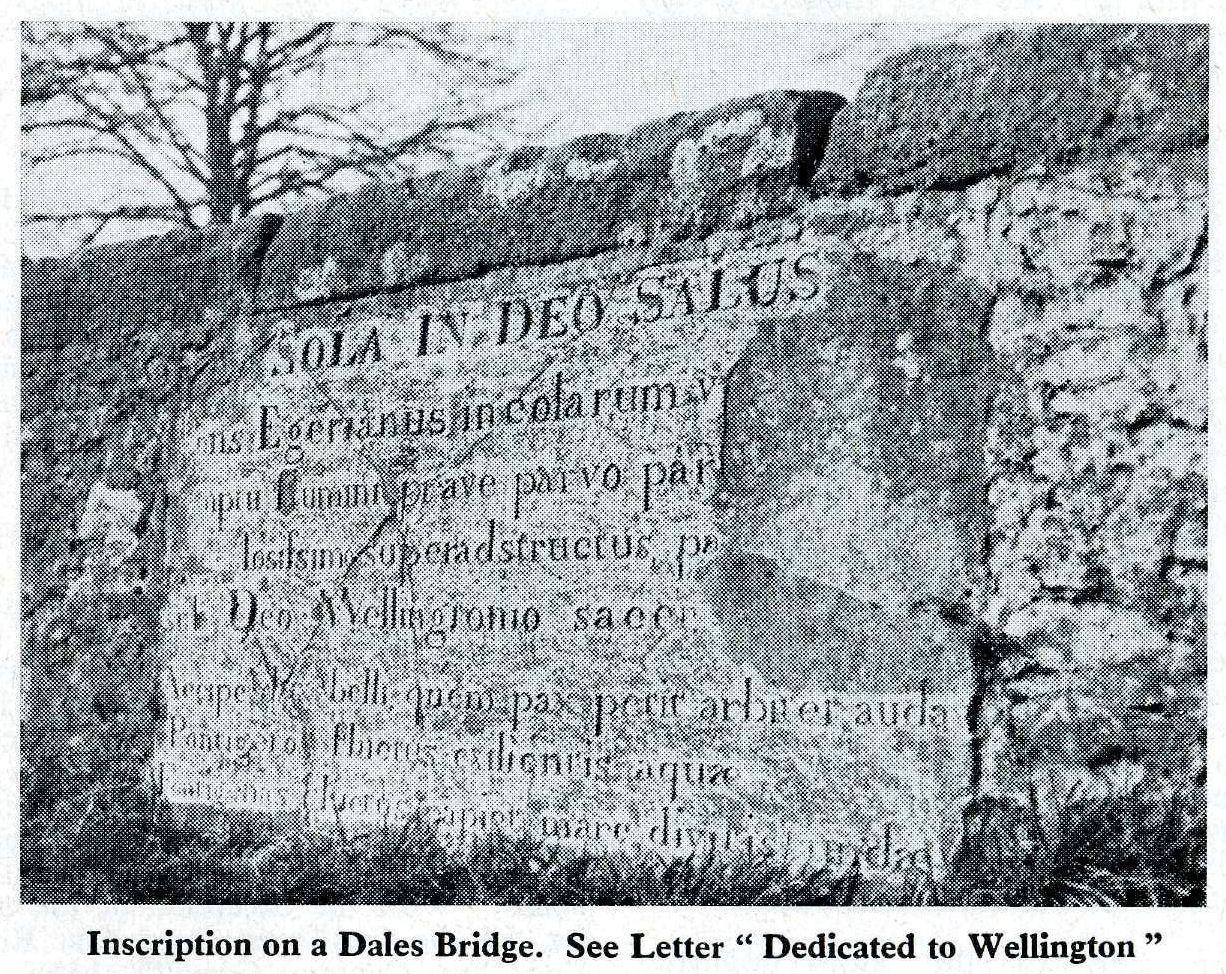 Littleburn Bridge, latin inscription