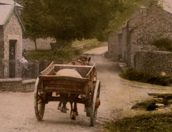Horse and cart at Thoralby