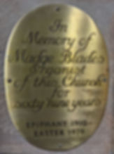 Madge Blades, brass plaque