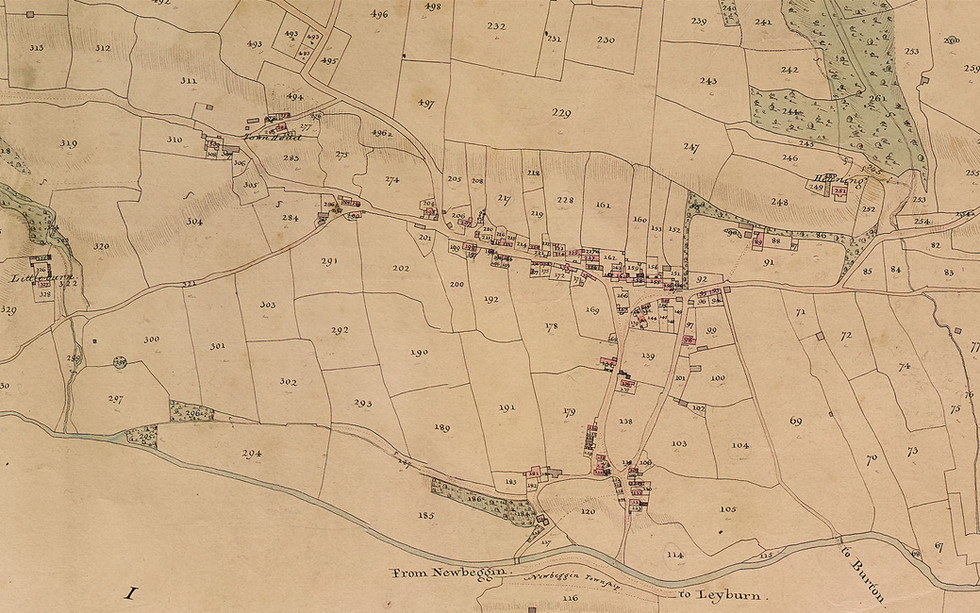 1840 Tithe Map - Thoralby village