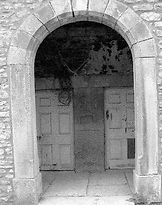 Bishopdale school, showing the two separateentrances. Courtesy of DCM, Hawes.
