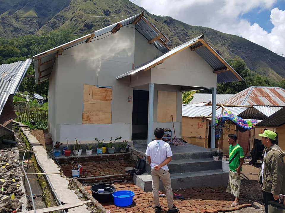 Pembangunan huntap Sembalun Lombok