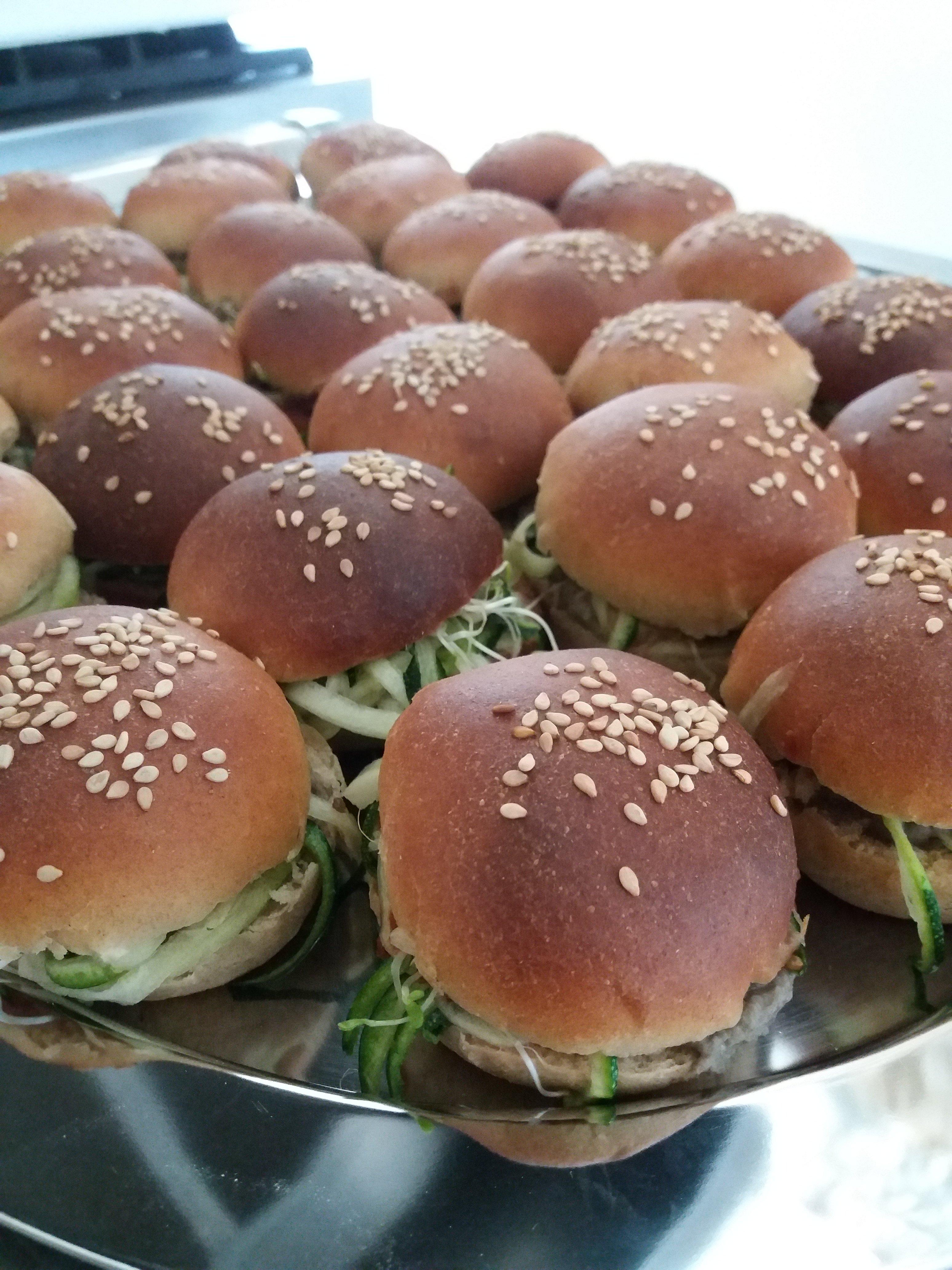 mini burgers maison aux légumes