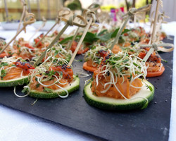 toasts courgettes pois chiches
