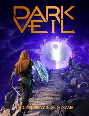 Bringing the world of Dark Veil to life in it's cover art