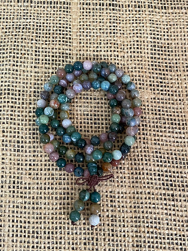 Indian Agate Mala Beads