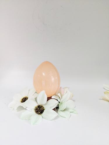 Selenite Crystal Egg, Orange Selenite Fertility Eggs, Healing Crystal