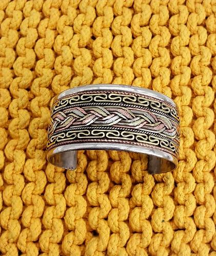 Wide Cuff Twisted Copper Handmade Bracelet,Copper Bangles,Vintage  Copper Filigr