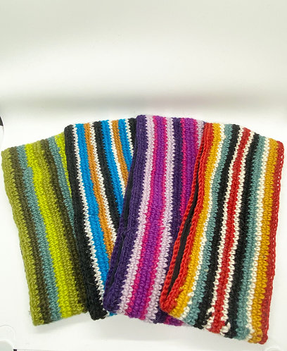Hand Knitted 100% Wool Multi color Head band