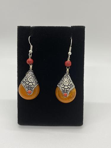 Nepali Amber Earring