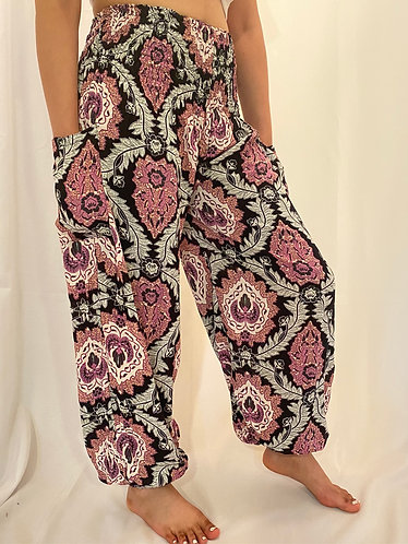 Black Harem Bohemian Yoga Pants