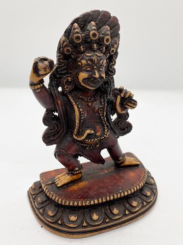 Handmade Resin Mahakala Statue, Mahakala Altar Statue, Protector Diety, Heruka,