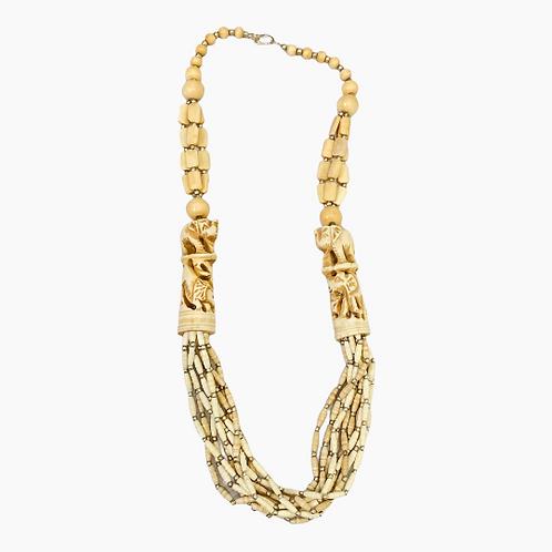 Yak Bone Tribal Style Elephant Necklace