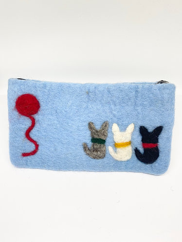 Handmade Cat Felt Purse