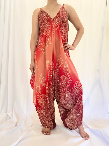 Loose Fit Bohemian Jumpsuit