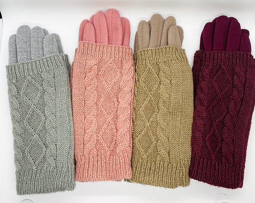 Two way Winter Fleece Lined Touch Screen Gloves