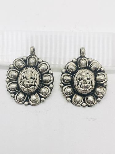 Ganesha Tibetan Silver Pendant, Ganesh,Symbol of Goodluck, Success