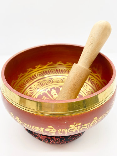 "5.5"" Hand painted  and Handmade Singing Bowl from Nepal"