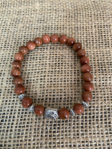 Goldstone with Buddha Charm