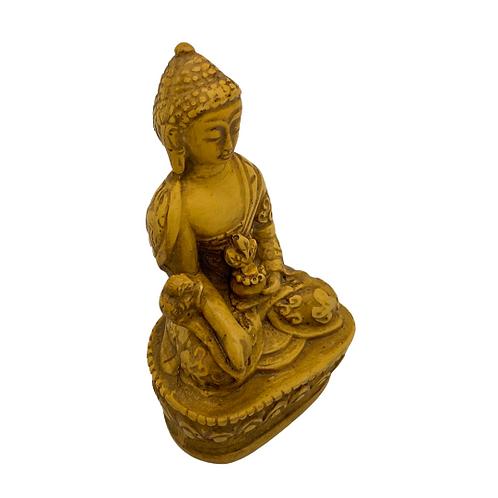 Handcarved Medicine Buddha from Nepal,Tibetan Buddha Statue