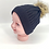 Thumbnail: Handmade Unisex Fleece Lined Baby Hats with Pompom, Kids, Bay, Toddler Beanie Ha