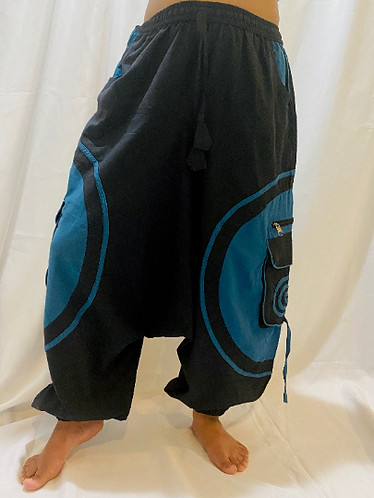 Cotton Harem Pants With Pockets, Cotton Pants, Multiple Pockets Pants, Unisex Pa