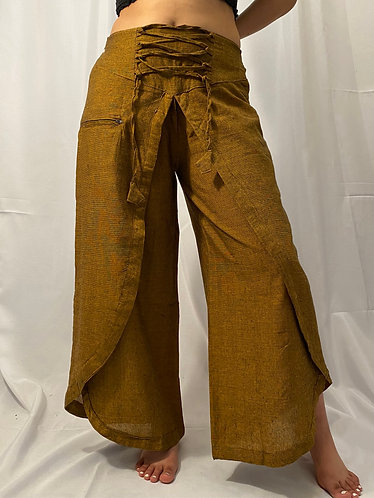 Nepali Cotton Solid  Double Layer Plazzo Pants