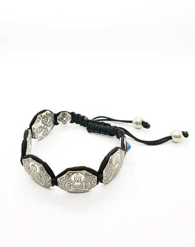 Handmade Adjustable Buddha Bracelet with Dorje/Vajra