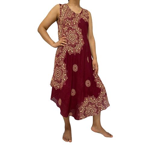 Loose Mandala Print Summer Dress
