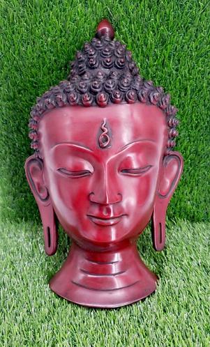 """12"""" Buddha Mask, Wall Hanging, Handmade  Buddha Mask, Meditation, Buddha Face Ma"""