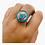 Thumbnail: Round Turquoise/Coral Rings/Tibetan Rings/Gemstone Rings/Hippie Rings/Ethnic Boh