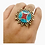 Thumbnail: Statement Turquoise Rings/Multi Stone Rings/Vintage Rings/Authentic Rings/Coral