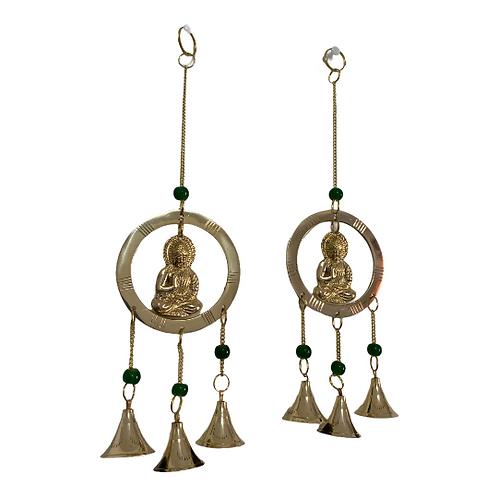 Brass Windchime with Buddha