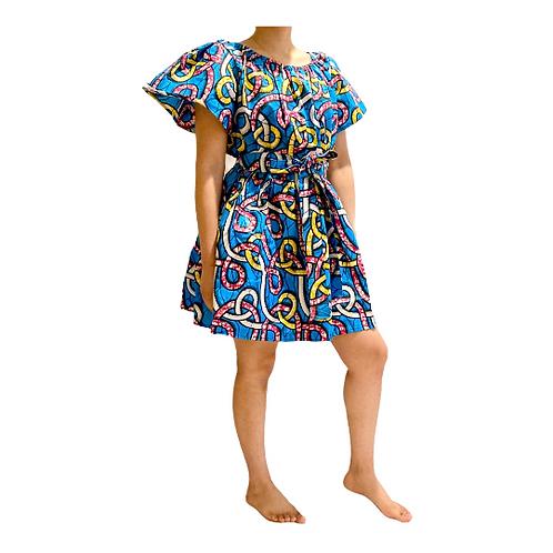 Bohemian off-shoulder dress, Vintage style