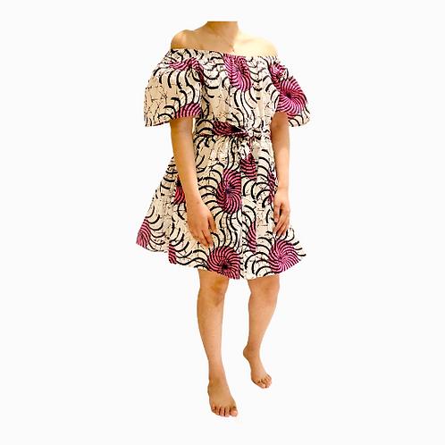 Vintage Style Off Shoulder Dress