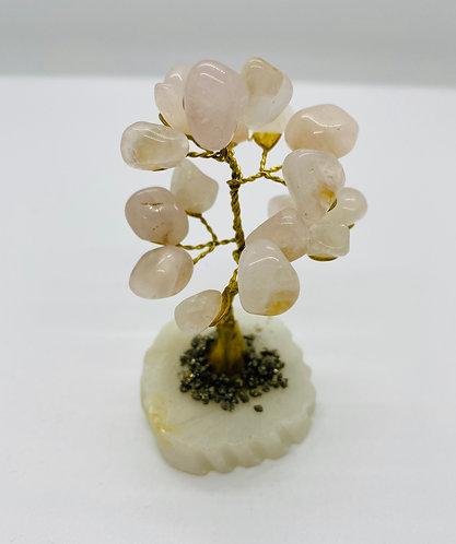 """4"""" Rose Quartz Prosperity Bonsai Tree"""