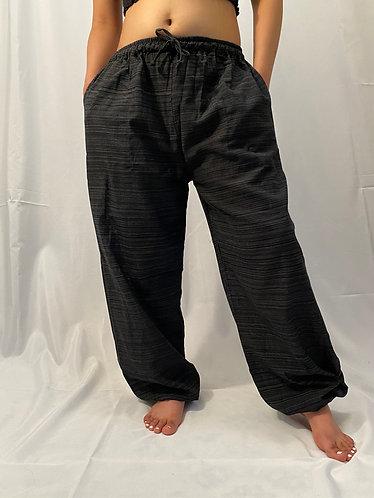 Unisex Grey Cotton Pants