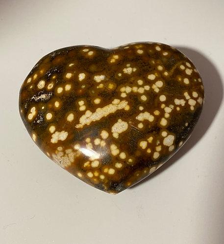 Ocean Jasper Heart Crystal