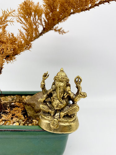 "Handmade 3"" Ganesha/Ganesh, Lord of New Beginnings,Remover of Obstacles Statue"