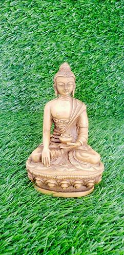 """3""""Handmade Healing Buddha Statue from Nepal, Buddha Statue, Medicine Buddha Stat"""
