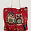 Thumbnail: Handmade Owl Cotton Tote Bag, Cotton Bags , Owl Bags, Double Sided Owl Print Bag